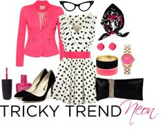 """Tricky trend - Neon color"" by laureline-b on Polyvore"