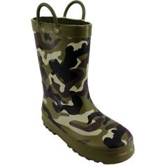 """Camouflage"" Green Camo Rain Boots 7/8-2/3 Unknown. $17.99"