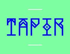 Consultez ce projet @Behance: \u201cTAPIR Free Font\u201d https://www.behance.net/gallery/12355467/TAPIR-Free-Font