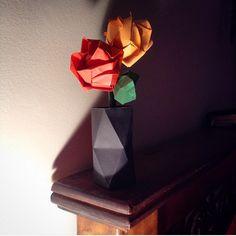 Flores origami por @marcelagomez165