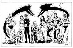 Doom Patrol Commissioned Art | ... Doom Patrol, in Kevin Moorhead's Doom Patrol Comic Art Gallery Room