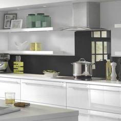Vistelle Mocha Grey Glass Effect Acrylic Splashback Kitchen Worktop, Kitchen Units, Kitchen Backsplash, New Kitchen, Kitchen Decor, Kitchen Ideas, Gloss Kitchen, Kitchen Walls, Kitchen Stuff