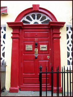 Dublin red door #myobsessionwithreddoors & Red Door . lrginvestments.com | Black White Red | Pinterest | Black ...