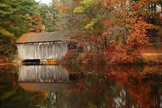 Covered bridges in the fall...