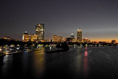 View of  Boston. I took it during the Fall of 2011 near the Charles MGH Red line stop.