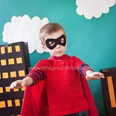 Fantastic photo idea for my superhero loving boy!