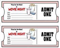 Movie Theater Birthday Party Invite