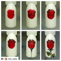 "1,330 Likes, 9 Comments - МК  от лучших нейл мастеров! (@mknogti) on Instagram: ""#Repost @tofi_nails with @repostapp ・・・ Роза гель-лаками  #дизайнгельлаком #гельлакдизайн…"""
