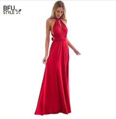4a10339fce0b Sexy Women Multiway Wrap Convertible Boho Maxi Club Red Dress Bandage Long  Dress Party Bridesmaids Infinity Robe Longue Femme – Lady Shop – Store for  the ...