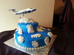 Grooms Cake made for a wedding.  the Groom is a Pilot.