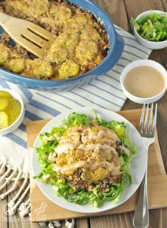 Big Mac Casserole - Low Carb and Gluten Free | Peace Love and Low Carb Big Mac Salat, Keto Recipes, Keto Foods, Diabetic Foods, Real Food Recipes, Ketogenic Recipes, Diabetic Menu, Atkins Recipes, Keto Meal