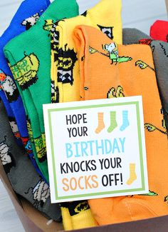 Birthday Gift Idea-Knock Your Socks Off