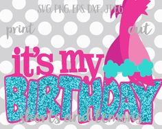 Troll svg Troll birthday NOW with Mirrored by ShortsandLemons