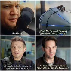 Hawkeye and Antman in Civil War
