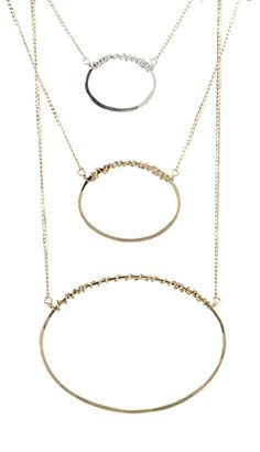 Open Oval Necklace. Three sizes!