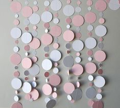 First Birthday party, Baby shower party garland - Babies party decoration - Pastel pink & white - New born - Paper garland - Sprinkle shower Bridal Shower Decorations, Paper Decorations, Birthday Party Decorations, Paper Garlands, Birthday Garland, Pastel Party Decorations, Paper Backdrop, Diy Decoration, Diy Birthday