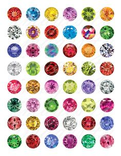 Gemstones round Digital Collage Sheet bottle cap by images4you