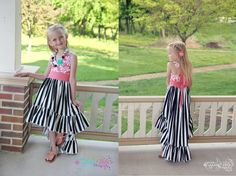 Hope's Hi-Low Dress PDF Pattern Sizes 6/12m to 8 Kids   Etsy High Low Skirt, Hi Low Dresses, Pdf Patterns, Step By Step Instructions, Two Piece Skirt Set, Fancy, Unique, Kids, Bodice