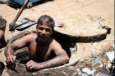 Portrait Sewage Cleaning Man Chennai Corporation 3