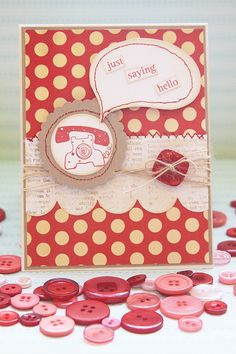 """Just Saying Hello Card using """"Sunshine and Smiles"""" and """"Hello Friend"""" Avocado Arts Stamp sets- By: Becky Oehlers"""