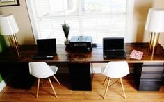 Gentil DIY Desk For Two  Building A Sleek Desk Is Easier Than You Think! File  Cabinet Desk Build Your Own Desk Home Office Desk | Furniture | Pinterest |  File ...