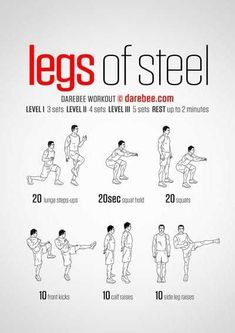 Legs Of Steel Workout Gym Workouts Leg Bodyweight Home Fitness Calisthenics Fitness Workouts, Gym Workout Tips, At Home Workouts, Home Leg Workout Men, Leg Workouts For Men, Leg Bodyweight Workout, Boxing Workout Routine, Parkour Workout, Sprint Workout