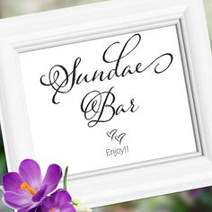 Sundae Bar Wedding Sign Decoration  Table Accent  by weddingfusion, $5.00
