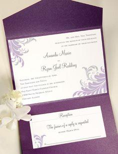 pocket folder wedding invitation - Wedding Invite Envelopes
