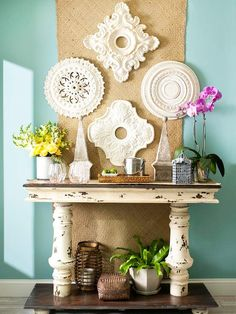 use ceiling medallions as wall decor?