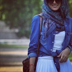Casual hijab...no I did not convert but I actually admire their modesty---I do not think it is oppression in all cases