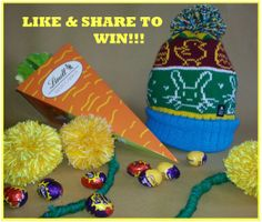 We've made this custom Easter bunnet today, head over to our Facebook page for a chance to win! (You get the chocolate filled carrot too!) A winner will be picked by random tomorrow at 2pm.  Good luck :)  on.fb.me/1j0Jp6U