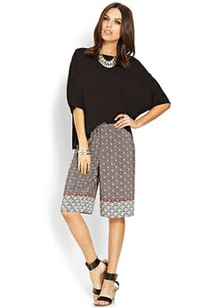 Never thought these would com back. Looks super comfy. Clamshell Print Culottes | LOVE21 -