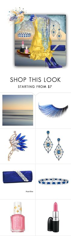 """Still Waters, Bright Lights"" by rainheartcreations ❤ liked on Polyvore featuring MAKE UP FOR EVER, Konstantino, Dasein, Blue Nile, Essie and MAC Cosmetics"