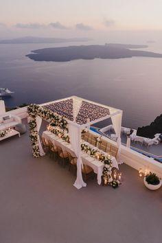 Intimate Wedding Reception, Long Table Wedding, Wedding Set Up, Sunset Wedding, Intimate Weddings, Dream Wedding, Greek Wedding Theme, 1920s Wedding, Small Intimate Wedding