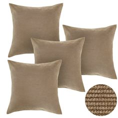 "Corduroy Plush Pillow Case Throw Sofa Waist Cushion Cover Home Decor 18x18/"" UK"