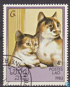 Postage Stamps - Laos - Cats