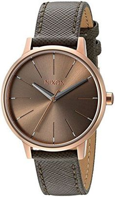 Just arrived Nixon Women's A1082214-00 Kensington Grey Watch With Leather Band