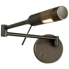 Holtkoetter Cleo LED Old Bronze Right Swing Arm Wall Lamp