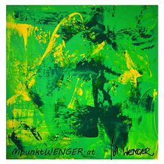 gelb-grün / yellow-green by mpunktwenger (Acryl 100 x 100 on canvas) Northern Lights, Abstract, Nature, Travel, Yellow, Naturaleza, Summary, Viajes, Nordic Lights
