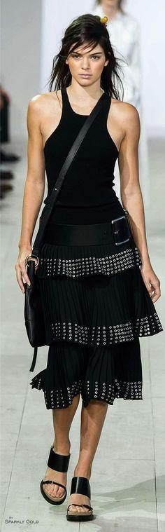 @roressclothes clothing ideas #women fashion black midi dress  Michael Kors Spring 2016