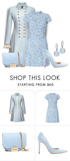 """""""Autumn Pastel"""" by sjlew ❤ liked on Polyvore featuring Miss Selfridge, Victoria Beckham, Gianvito Rossi and Ice"""