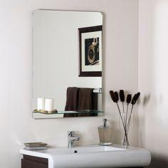 MASTER BATH -Columbus Frameless Wall Mirror - 23.6W x 31.5H in. - $96.99 @hayneedle