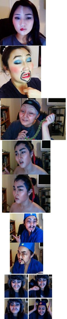LMAO.....serious costume makeup skills. Recreating different Mulan characters. This is absolutely hilarious...