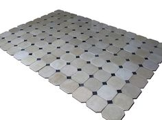 Encaustic cement tiles on pinterest mont ventoux cement for Carrelage cabochon noir et blanc