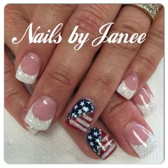 The advantage of the gel is that it allows you to enjoy your French manicure for a long time. There are four different ways to make a French manicure on gel nails. The choice depends on the experience of the nail stylist… Continue Reading → Fingernail Designs, Acrylic Nail Designs, Nail Art Designs, Acrylic Nails, Patriotic Nails, 4th Of July Nails, July 4th Nails Designs, Nails For Kids, Manicure Y Pedicure