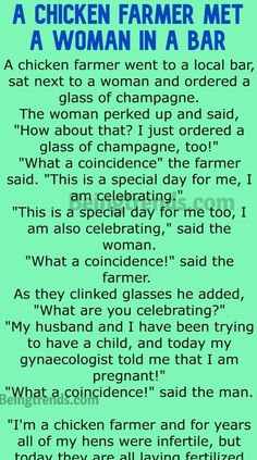 A Chicken Farmer Met A Woman In A Bar (Funny Story) » Being Trends Funny Marriage Jokes, Funny Jokes, Husband Wife Humor, Perfect Sayings, Perfection Quotes, Coincidences, Funny Stories, Going Crazy, Humor
