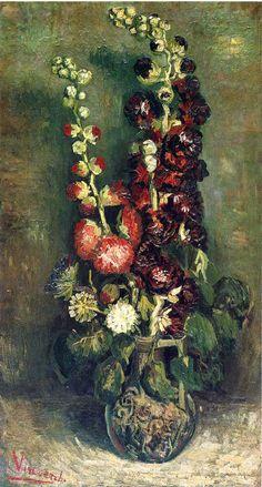 Vincent van Gogh, Vase of Hollyhocks, 1886