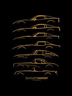 Chevrolet Corvette SilhouetteHistory by Gábor Vida (/me) Prints from $20