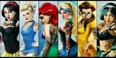 Tatooed Disney Pinups
