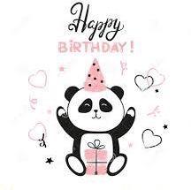 Feliz cumpleanos amiga panda
